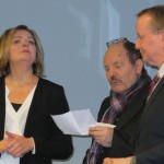 Vernissage mit Tatjana Jury, Raymund Stolze und Bürgermeister Karsten Knobbe