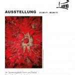 """Ausstellungsplakat: Angelika Bunke """"Im Spannungsfeld: Form und Farbe"""""""