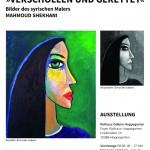"""Plakat """"Verschollen und gerettet"""" - Bilder des syrischen Malers Mahmoud Shekhani"""