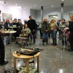 Hannes Lingens aus Halle (Saale) stimmt die Besucher ein