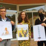 1.9.2020 / Preisverleihung 2. bundesweiter Cartoon-Wettbewerb / Mario Lars, Annika Frank und Antje Püpke © Dirk Schaal