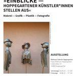 Plakat »Einblicke« — Hoppegartener Künstler*innen stellen aus
